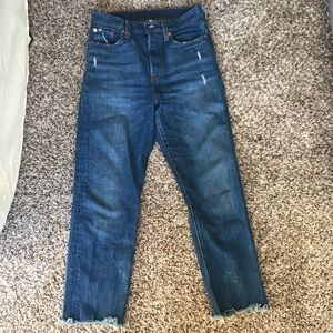 Levi's wedgie fit ankle straight jean